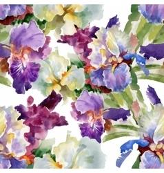 Beautiful Watercolor Summer Garden Blooming vector
