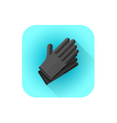 black latex tattoo gloves vector image