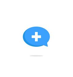 blue add chat buttonicon design vector image