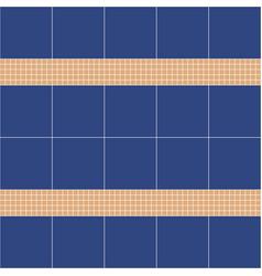 blue and beige ceramic tile mosaic vector image