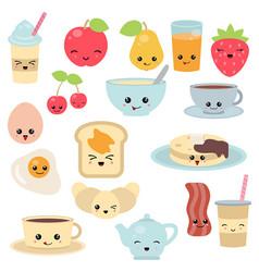 Breakfast food and beverages breakfast food and vector