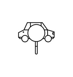 Car magnifier search icon can be used for web vector