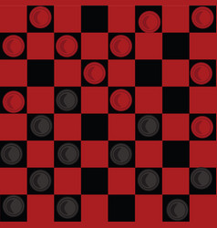 Checkers board game vector