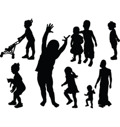 children collection vector image