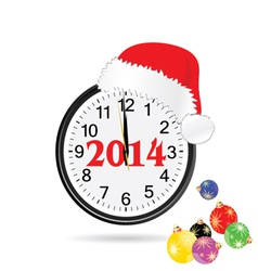 christmas clock color vector image