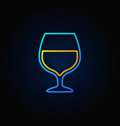 cognac glass blue icon vector image