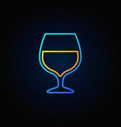 Cognac glass blue icon vector