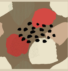 Collage contemporary abstract seamless brown vector