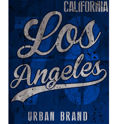 college los angeles typography t-shirt graphics vector image