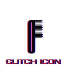 Comb icon flat vector