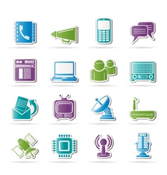 connection and technology icons vector image