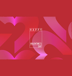 creative geometric hearts wallpaper valentines day vector image
