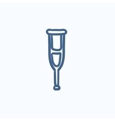 Crutch sketch icon vector