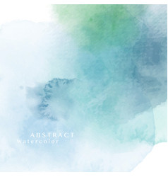 Dark blue green abstract watercolor background vector