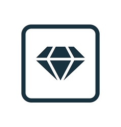 Diamond icon Rounded squares button vector