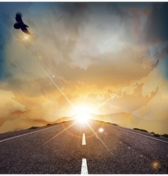 eagle road background vector image