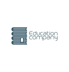 Education company icon with pile of books vector image