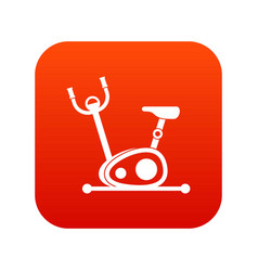 exercise bike icon digital red vector image