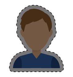 Faceless man character vector