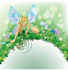 Fairy girl vector image