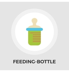 Feeding bottle flat icon vector image