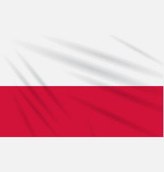 Flag poland swaying in the wind realistic vector