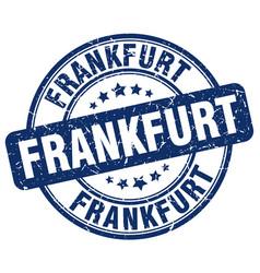 Frankfurt blue grunge round vintage rubber stamp vector