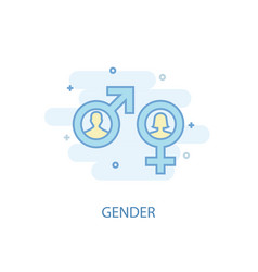 gender line concept simple line icon colored vector image