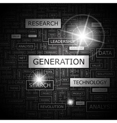 GENERATION vector image
