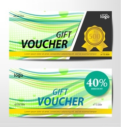Gift Voucher Template sporty and colorful style vector image