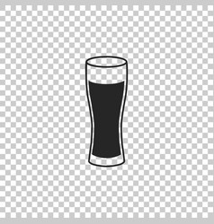 glass of beer icon on transparent background vector image