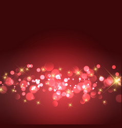 gold stars and bokeh lights background vector image