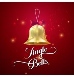 Golden Christmas Bell Holiday vector