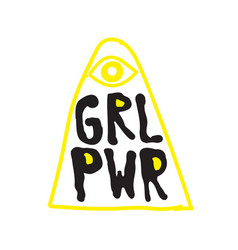 Grl pwr short quote girl power cute vector
