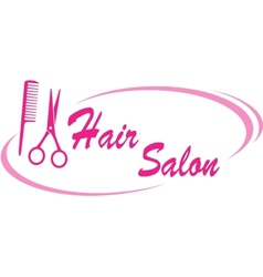 Hair salon sign vector