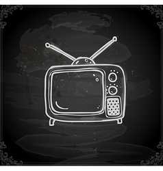 Hand Drawn Television vector image