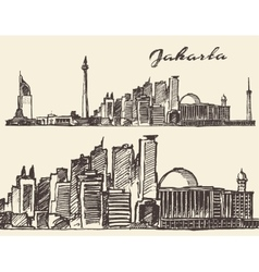 Jaipur hand drawn sketch vector image