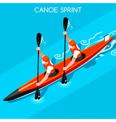 Kayak Sprint Double 2016 Summer Games 3D vector