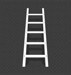 Ladder on transparent background vector