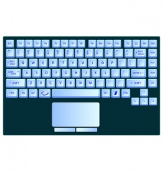 Laptop keyboard vector