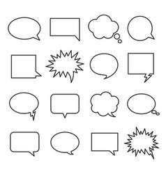 Line speech bubbles vector