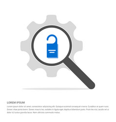 lock icon search glass with gear symbol icon vector image