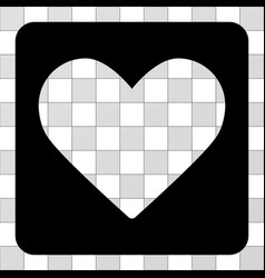love heart rounded square vector image