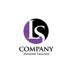 ls letter logo vector image