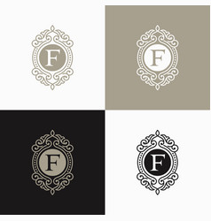 Luxury letter logo template vector