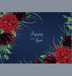 luxury stylish floral watercolor wedding invite vector image