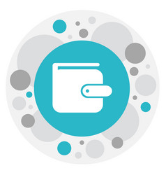 Of banking symbol on wallet vector