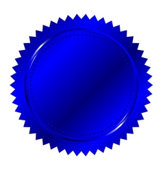 of blue seal vector image