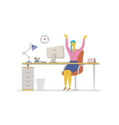 Office worker - flat design style colorful vector