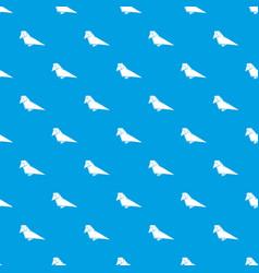origami bird pattern seamless blue vector image